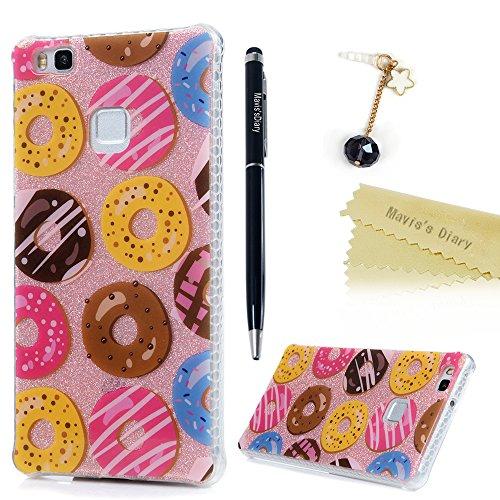 maviss-diary-huawei-p9-lite-hullen-bunt-donuts-2in1pc-back-tpu-rahmen-protective-dekoration-handycas
