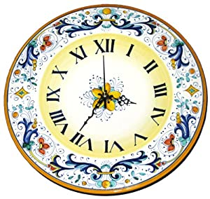 Amazon Com Ricco Deruta Italian Ceramic Wall Clock
