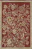 Mad Mats Wildflowers Indoor/Outdoor Floor Mat, 5 by 8-Feet, Cranberry