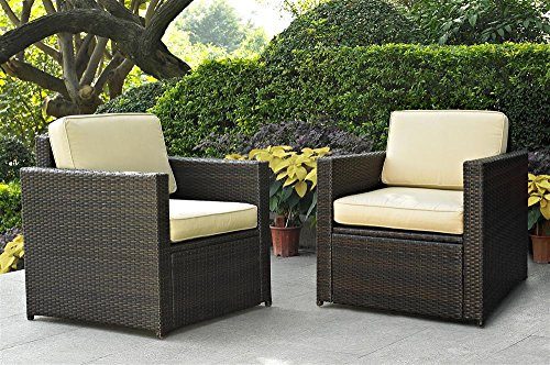 Palm Harbor 2 Piece Outdoor Wicker Seating Set - Two Outdoor Wicker Chairs picture