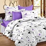 Story@ Home 100% Cotton Double Bedsheet With 2 Pillow Cover