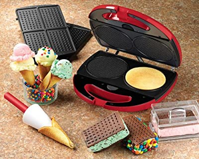 Nostalgia Electrics MSM-200 Waffle Cone and Ice Cream Sandwich Maker by EMG East, Inc. (direct order)
