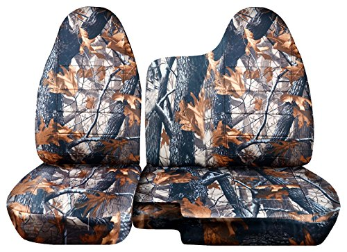 2004 to 2012 Chevrolet Colorado/GMC Canyon Camo Truck Seat Covers (60/40 Split Bench) No Armrest: Gray Real Tree Camo (16 Prints) (Camo Truck Accessories Gmc compare prices)