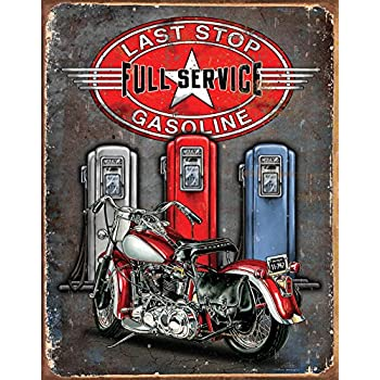Legends - Last Stop Tin Sign 12 x 16in