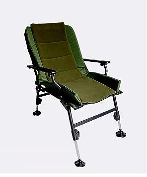 HAIPEGN Silla plegable Ultimate silla de pesca ajustable al aire libre plegable silla de camping reclinable con patas ajustables Fuerte y sólido