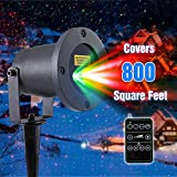 LUCKLED MagicPrime Wireless Control Laser Christmas Lights - Star Projector - IP65 Waterproof for Seasonal Decorative - Valentine - Wedding - Party