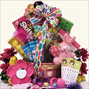 Egg-streme Glamour Girl: Easter Gift Basket for Girls Ages 6 to 9 Years Old