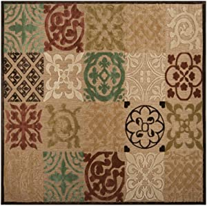 Area Rug 7x7 Square Indoor Outdoor Natural