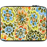Snoogg Yellow Flower Pattern 2478 13 To 13.6 Inch Laptop Netbook Notebook Slipcase Sleeve
