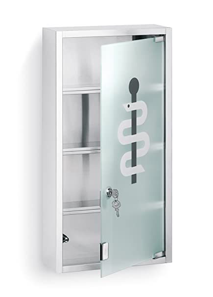 Blomus 68201 Locking Medicine Cabinet