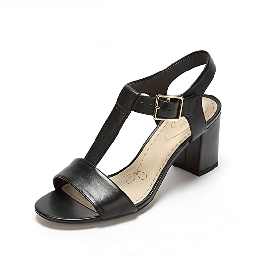 Clarks Women's Smart Deva Leather Fashion Sandals at amazon
