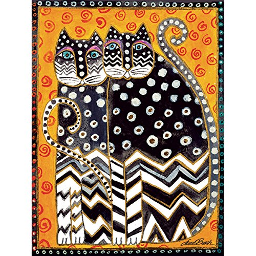 "Westland Giftware Canvas Wall Art, Zig Zag Cats, 12 by 16"" - 1"