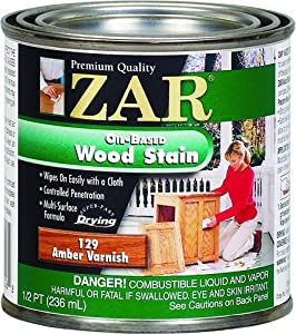 ZAR 12906 Wood Stain, Aged Varnish/Amber