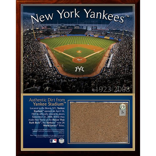 Steiner Sports MLB New York Yankees Original Stadium 8 x 10-inch Dirt Plaque at Amazon.com