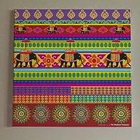 TEC Temple Elephant Wall Art 12 - Multicolor