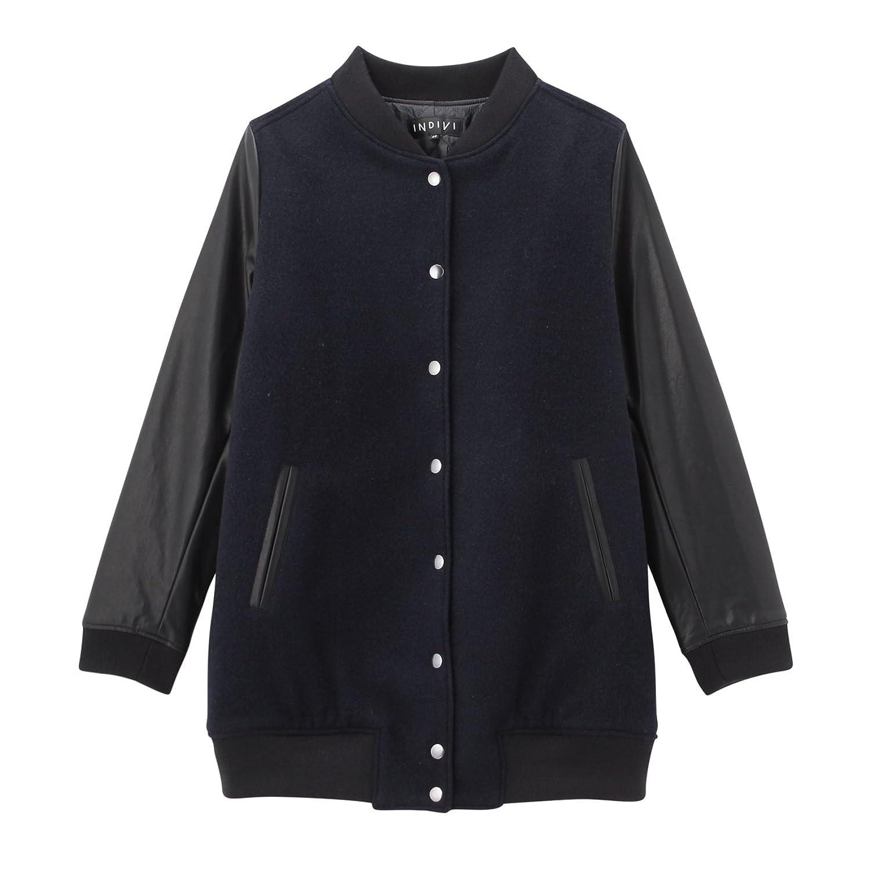 Amazon.co.jp: (インディヴィ)INDIVI 切り替えスタジャン風ブルゾン: 服&ファッション小物通販