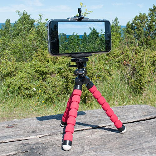 IPhone Tripod from FittSMILE - Incredibly Lightweight Tripod for iPhone - Secure - Flexible - Mounting Legs for Taking Clear Photos - Recording Your Videos