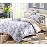 FeiLimei Bedding&Clothes 布団カバー 綿 花柄 4点セット BC611