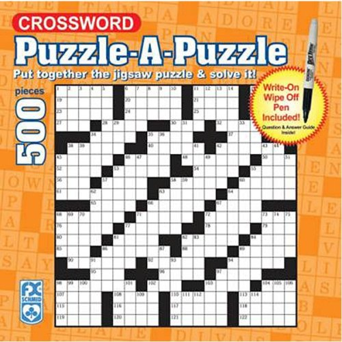 FX Schmid Crossword Wipe-Off Puzzle, 500pc