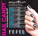 Elegant Touch Nail Candy Kit Black Pack of 24 Nails