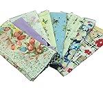 Forlisea Women Flower Print Handkerchief Cotton Hanky