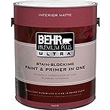 BEHR Premium Plus Ultra 1-Gal. Ultra Pure White Flat Enamel Interior Paint (Color: White)