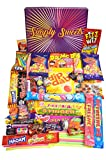 Simply Sweets retro sweet hamper gift box. Packed with 48 of the best retro sweet. A perfect present for Birthdays, Get Well Soon, Christmas. Packed in a fun stylish unique box, everybody will be sure to love this sweetie box.