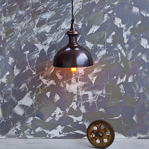 Vintage gold and copper pendant lamp by The Black Steel
