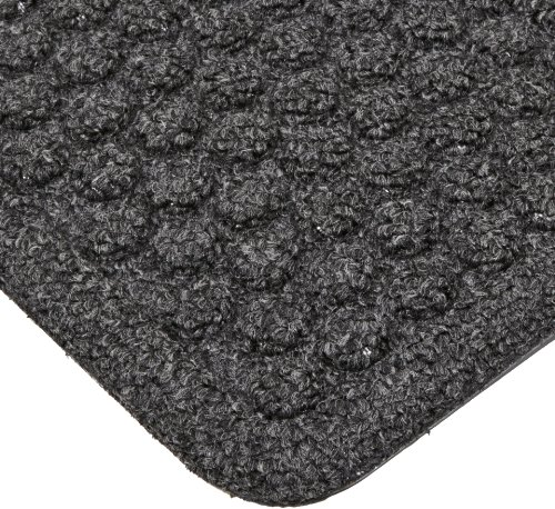 "Notrax 150 Aqua Trap Entrance Mat, for Main Entranceways and Heavy Traffic Areas, 3' Width x 5' Length x 3/8"" Thickness, Charcoal"