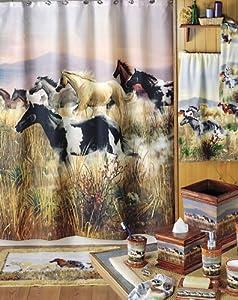 Hautman Horse Pony Bathroom Home Decor Shower Curtain Decoration