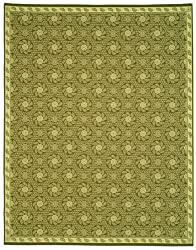"2'2"" x 9'5"" Runner Safavieh Rug MSR1125A-210 Pinecone Color Machine Made Belgium ""Martha Stewart Collection"" Pinwheel Design"