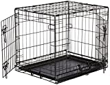 AmazonBasics Double-Door Folding Metal Dog Crate - Small...