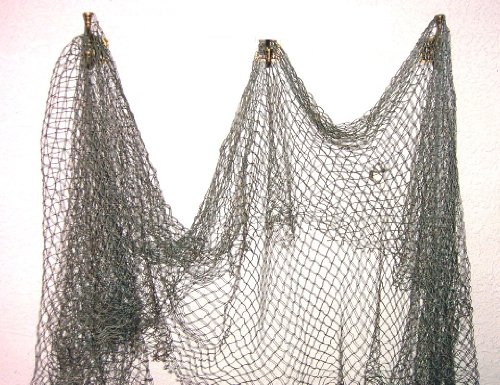 New fish net nautical fishing decor decorative netting for Decorative fishing net