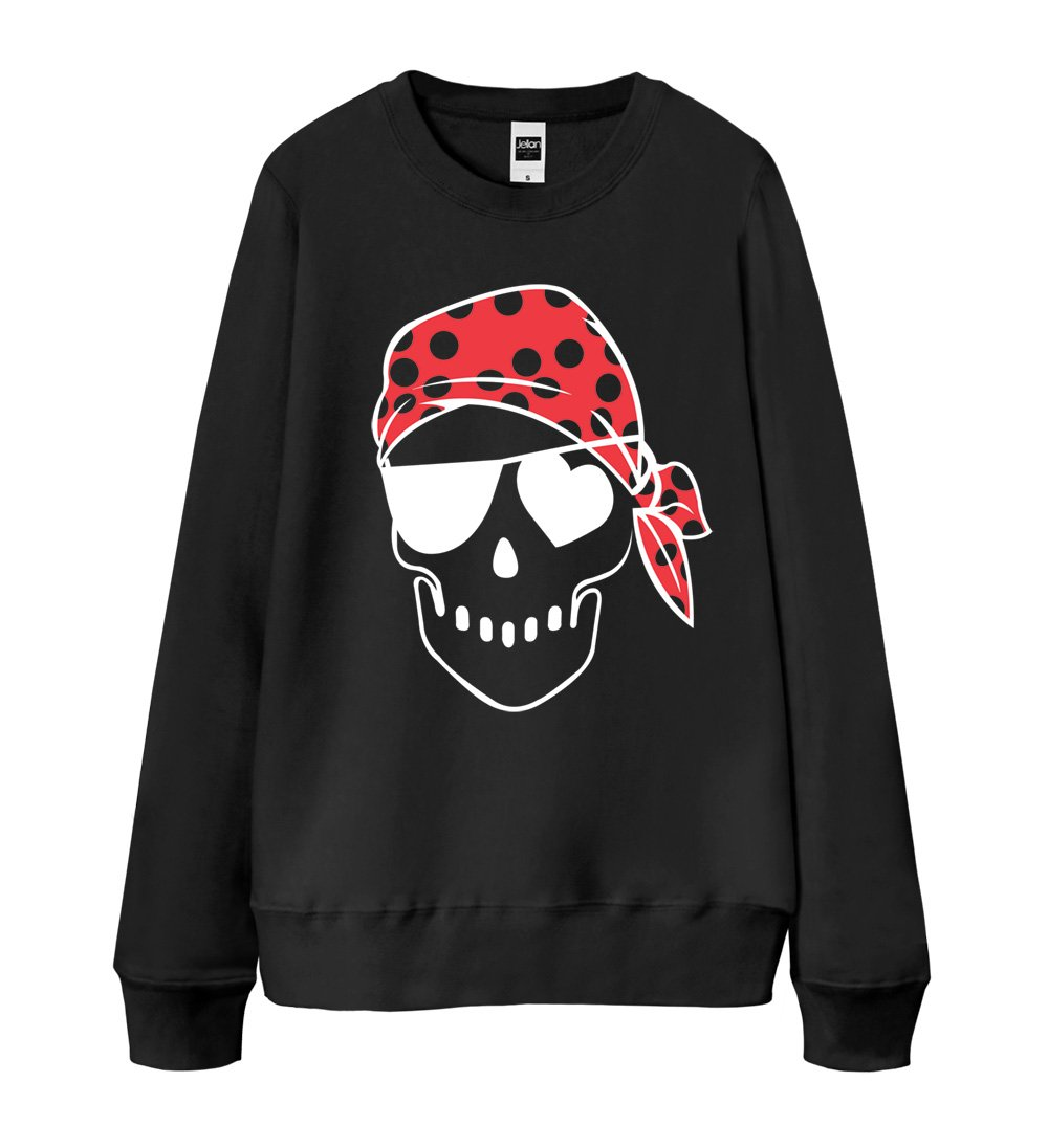 S-XXL Unisex Sweatshirt 13 Colors - Pirates Skull