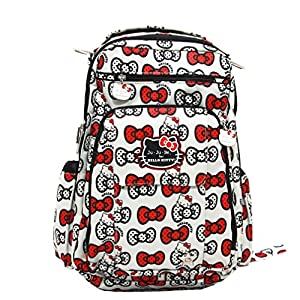 Bundle -3 Items:Ju-Ju-Be Be Right Back Backpack Diaper Bag -Hello Kitty Peek A Bow & Bella B Honey Bum 2 oz & Bella B Babywipes 50 count ... from Ju-Ju-Be + Bella B