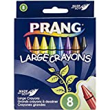 Prang Crayons, Large Size, Box of 8 Crayons, Tuck Box, Assorted Colors (00900)
