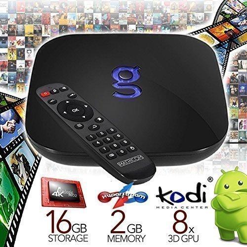 Loaded by Dealz R Us Fully Loaded Plug N' Play Matricom G-Box Q Quad/Octo Core XBMC/Kodi Android TV Box [2GB/16GB/4K] (Gbox Quad compare prices)