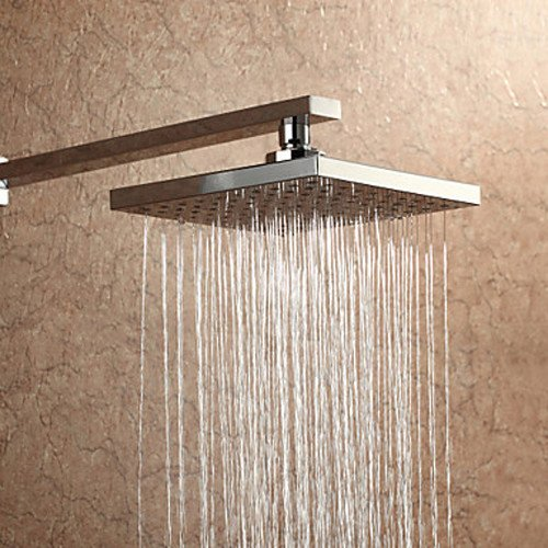 Unitary™ Square A Grade Abs Rainfall Shower Head Chrome Finish front-54082