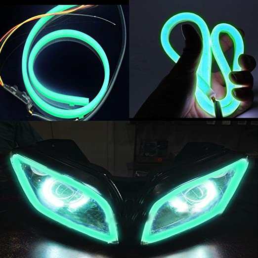 Vheelocity 85915 Green Custom Shape Motorcycle Daytime Running Light for All Bikes available at Amazon for Rs.220