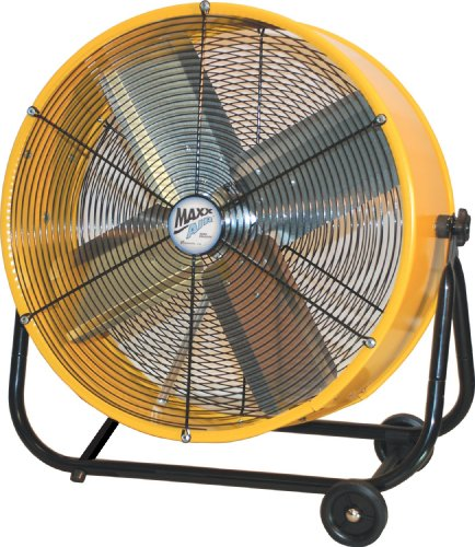 MaxxAir BF24TFYELUPS 24-Inch High Velocity Air Movement Two Speed Portable Air Circulator, Yellow (Chemical Exhaust Fan compare prices)