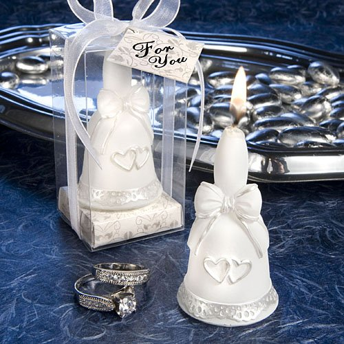Wedding Bells Collection candle favor (Set of 6)