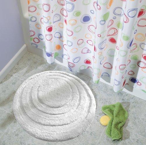 interdesign microfiber spa round bathroom accent rug 24