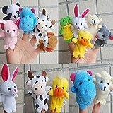 FEITONG(TM) 10pcs Animal Finger Puppet Plush Child Baby Early Education Toys Gift