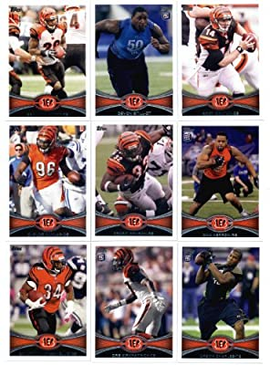 2012 Topps Cincinnati Bengals Complete Team Set (Sealed) - 18 cards including Andy Dalton, A.J. Green, Green-Ellis, Still RC, Herron RC, Kirkpatrick RC, Charles RC, Sanu RC, Zeitler RC, Jones RC, Iloka RC, Thompson RC, and more!