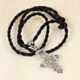Ethiopian-Cross-Pendant-Necklaces-Chain-Sliver-Plated-Jewelry
