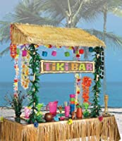 Amscan Table Top Tiki Bar Hut, 55 by 22-Inch by amscan - Lawn & Garden