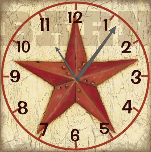 Red Southern Star Cork Memo board Wall Clock