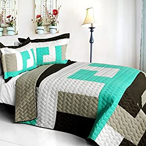 Tetris b vermicelli quilted patchwork for Quilted kitchen set