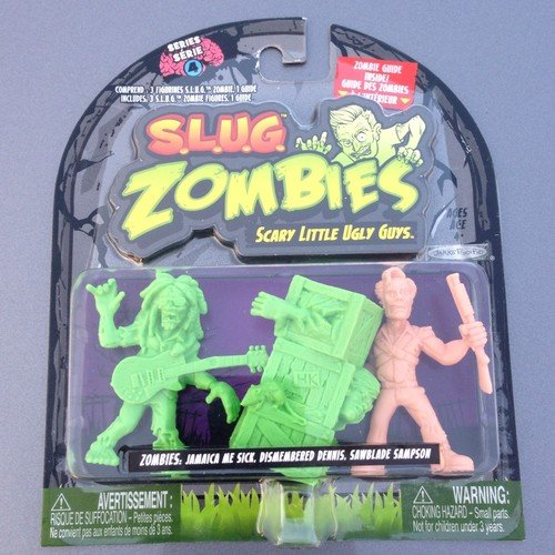 S.L.U.G. (Slug) Zombies Figures 3-Pack (Series 4) Jamaica Me Sick, Dismembered Dennis, Sawblade Sampson