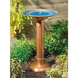 Target Solar Copper Bird Bath Fountain Birds Decor Outdoor
